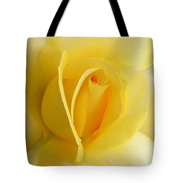 Yellow Rose Portrait Tote Bag