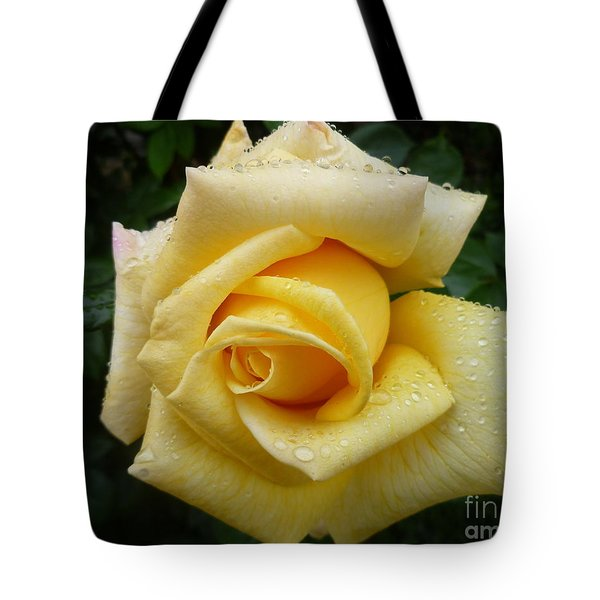 Yellow Rose Say Goodbye Tote Bag by Lingfai Leung