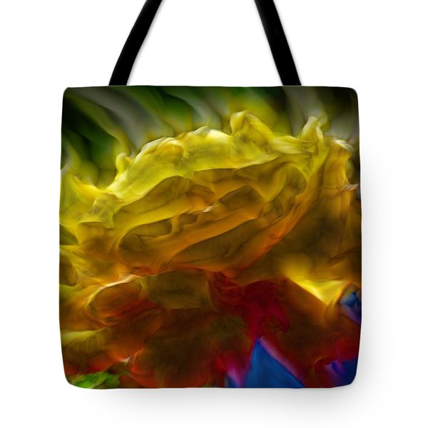Yellow Rose Series - Colorful Fractal Tote Bag