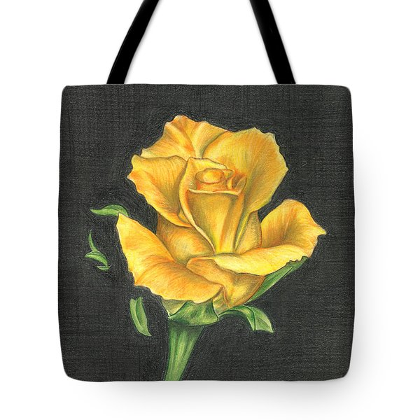Yellow Rose Tote Bag by Troy Levesque