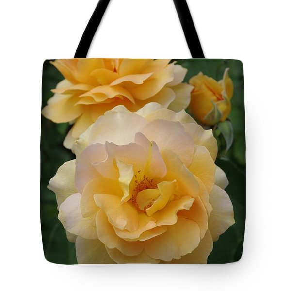 Tote Bag featuring the photograph Yellow Roses by Marilyn Wilson