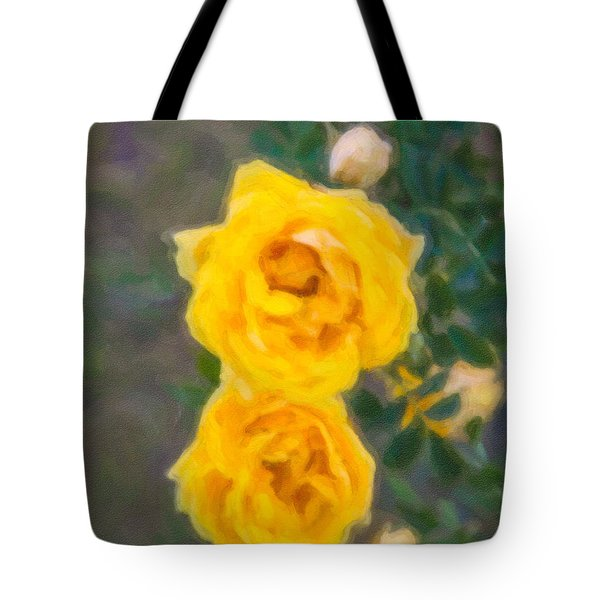 Yellow Roses On A Bush Tote Bag by Omaste Witkowski
