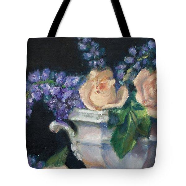 Yellow Roses Tote Bag by Sarah Parks