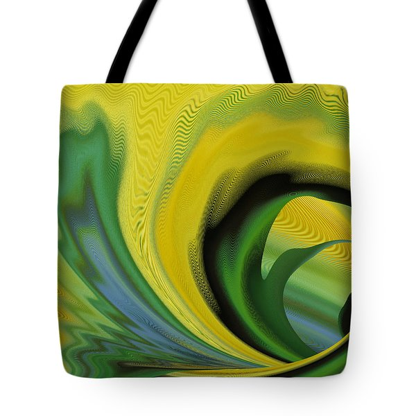 Tote Bag featuring the digital art Yellow by rd Erickson