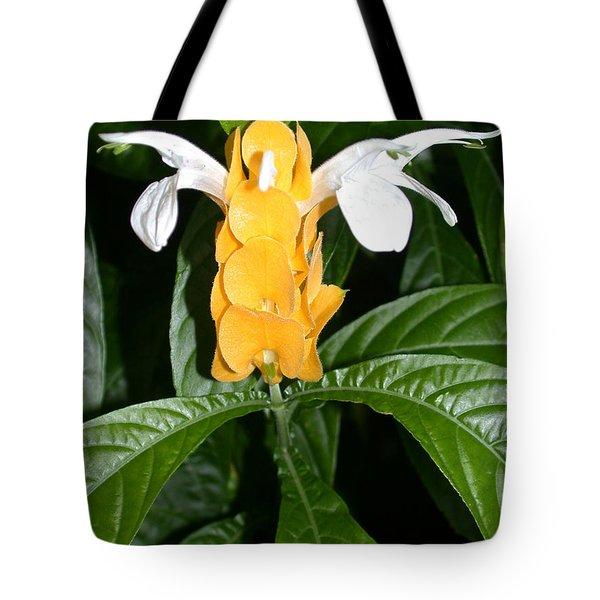 Yellow Shrimp Plant Tote Bag