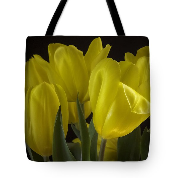 Tote Bag featuring the photograph Yellow Silk by Lucinda Walter