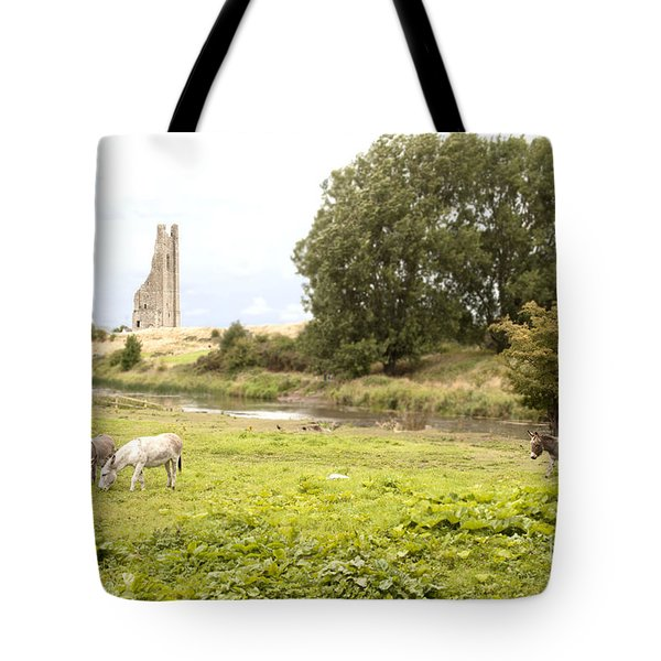 Yellow Steeple Amidst Meath Ireland Tote Bag