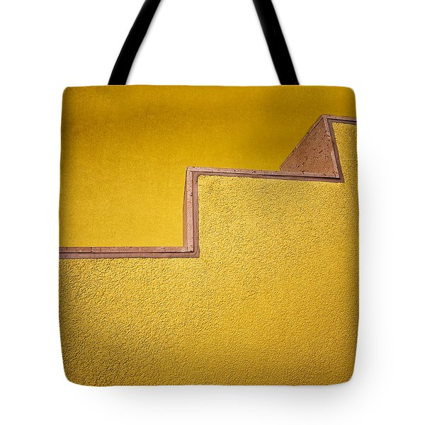 Yellow Steps Tote Bag by Melinda Ledsome