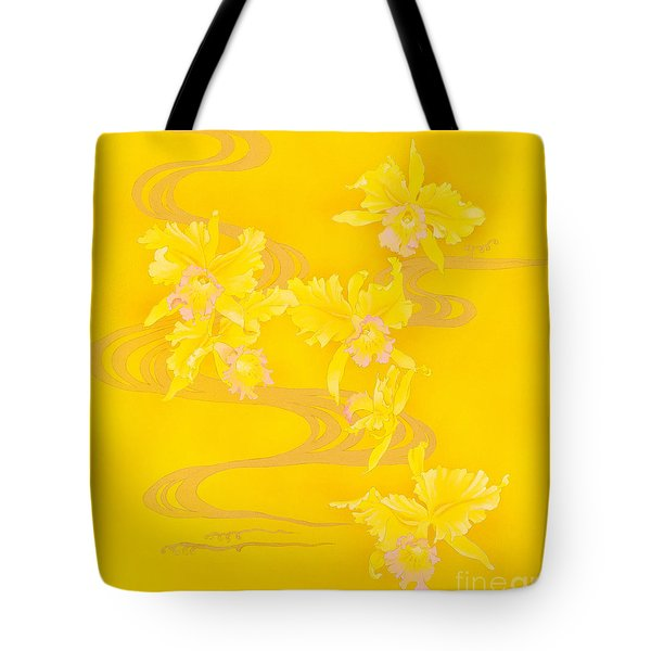 Yellow Stream Tote Bag by Haruyo Morita