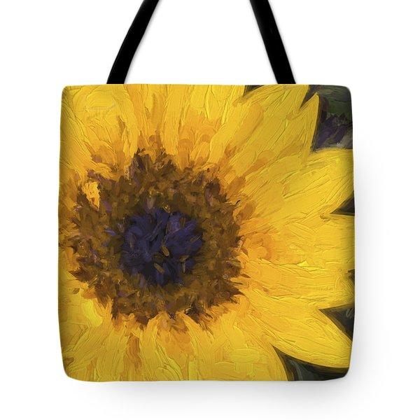 Yellow Sunflower Painterly Tote Bag