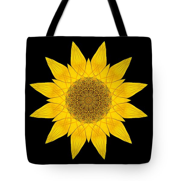 Yellow Sunflower X Flower Mandala Tote Bag