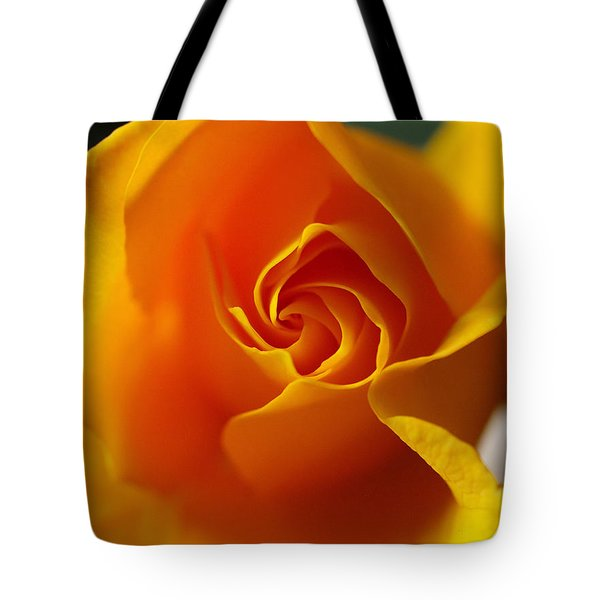 Tote Bag featuring the photograph Yellow Swirl by Joe Schofield