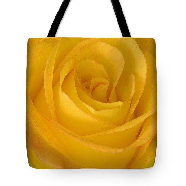 Yellow Tea Rose Tote Bag by John Pitcher