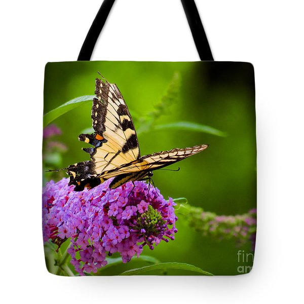 Yellow Tiger Swallow Tail Butterfly Tote Bag