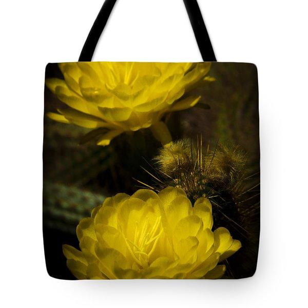 Yellow Torch Cactus  Tote Bag by Saija  Lehtonen