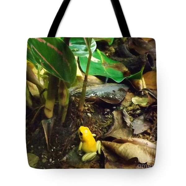 Yellow Tree Frog Tote Bag