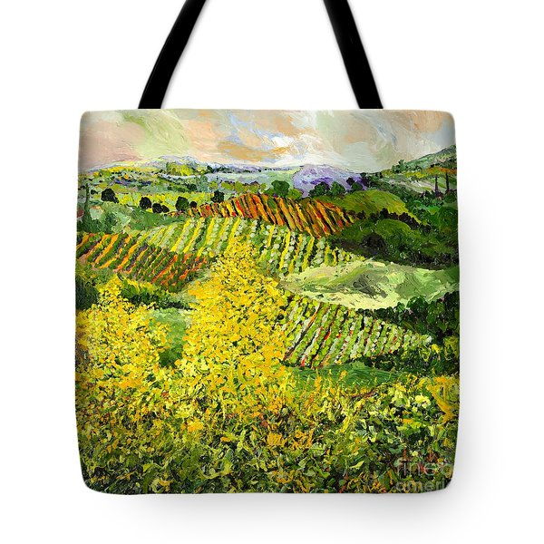 Yellow Trees Tote Bag by Allan P Friedlander