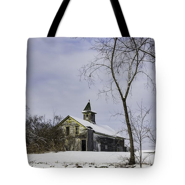 Yellow Trimmed Barn Tote Bag