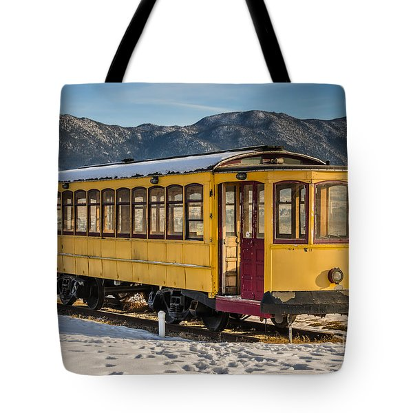 Yellow Trolley Tote Bag