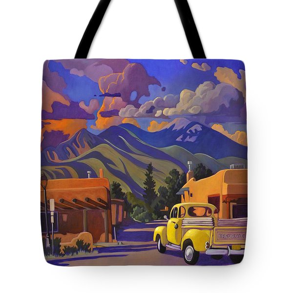 A Yellow Truck In Taos Tote Bag