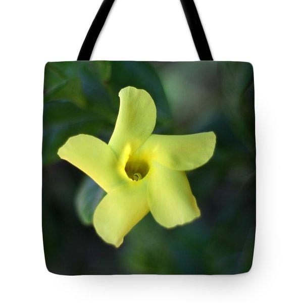 Yellow Trumpet Flower Tote Bag by Ramabhadran Thirupattur