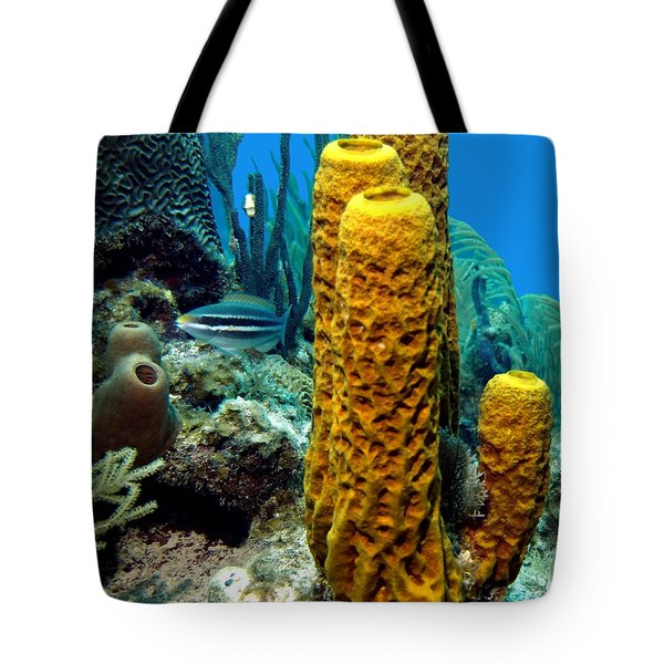 Yellow Tube Sponge Tote Bag