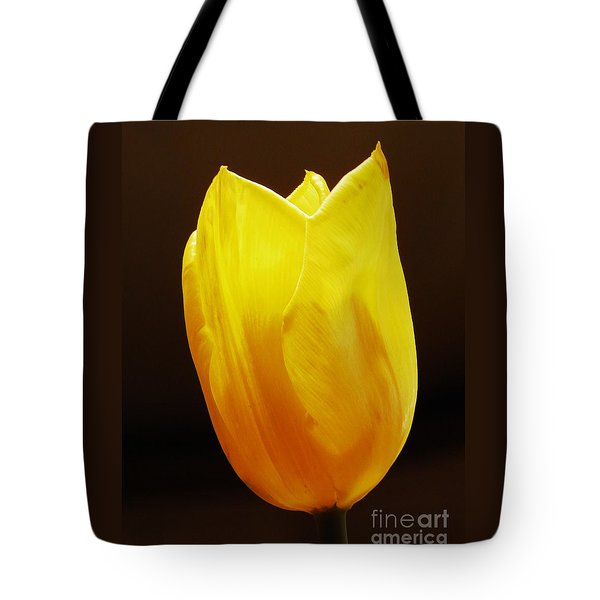 Yellow Tulip 3 Tote Bag by Sarah Loft
