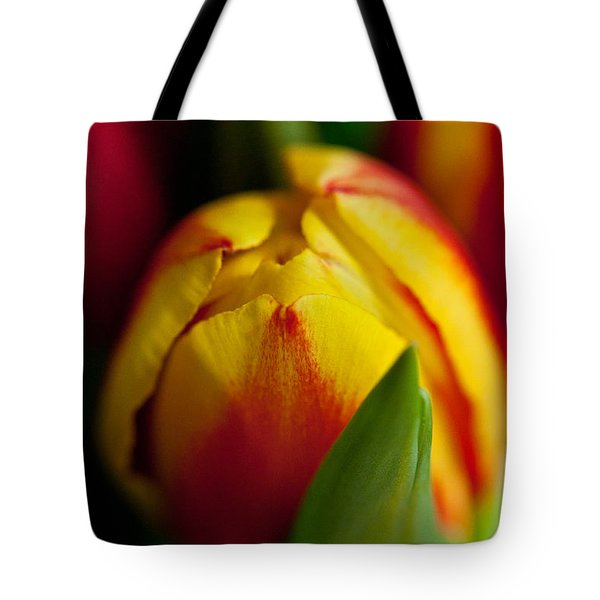 Tote Bag featuring the photograph Yellow Tulip by Sabine Edrissi