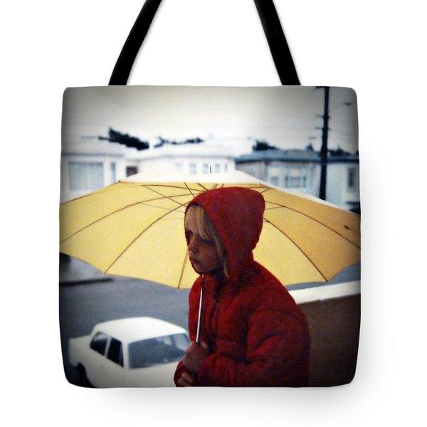 Yellow Umbrella - Polaroid 1976 Tote Bag