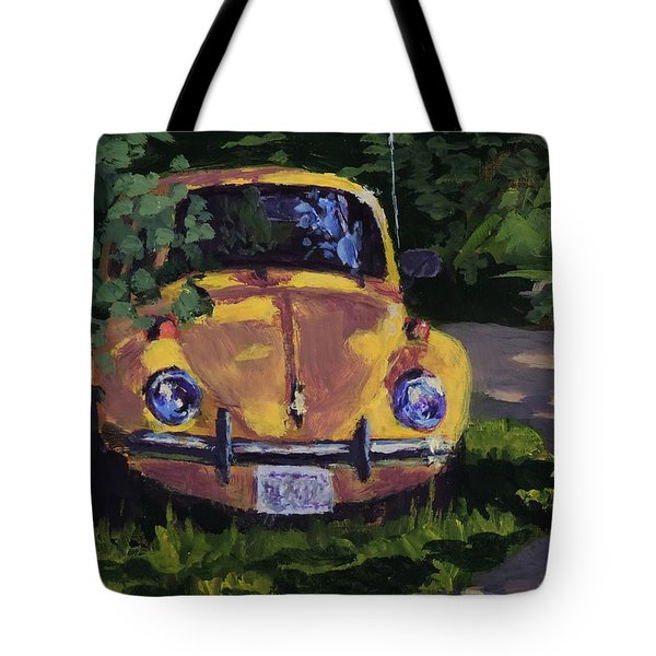 Yellow Vee Dub - Art By Bill Tomsa Tote Bag
