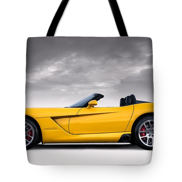 Yellow Viper Roadster Tote Bag