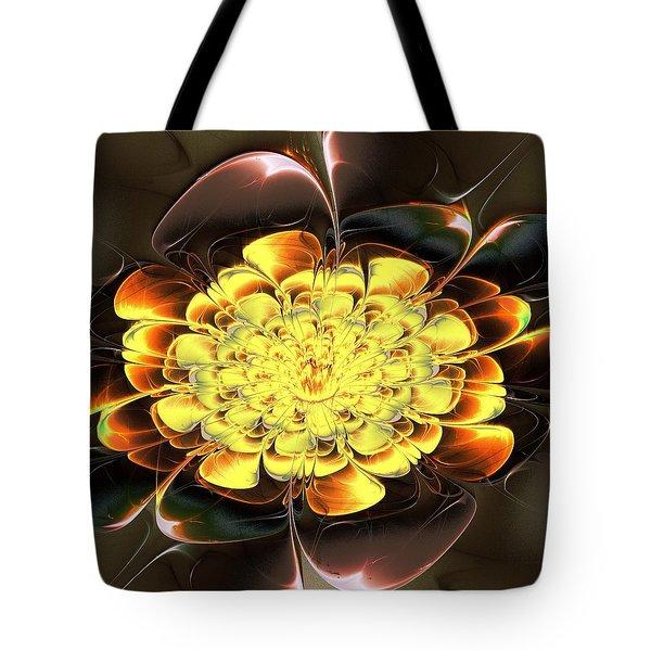 Yellow Water Lily Tote Bag by Anastasiya Malakhova