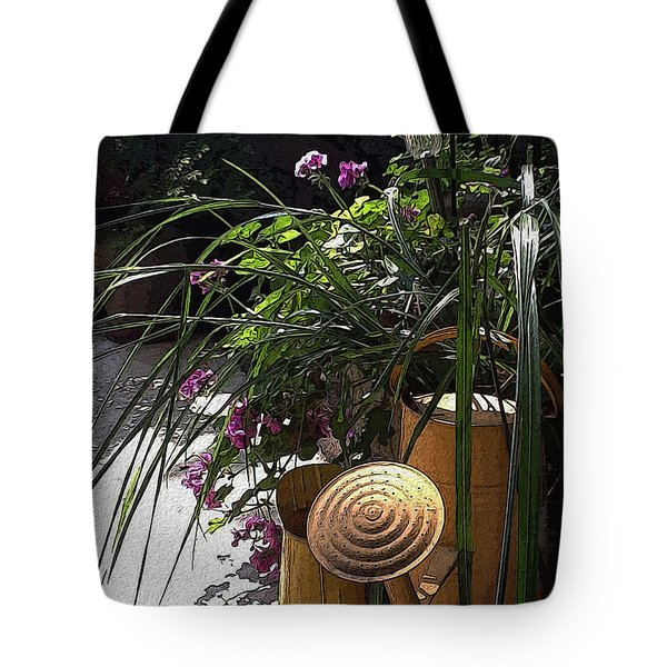 Yellow Watering Cans Tote Bag by Yvonne Wright
