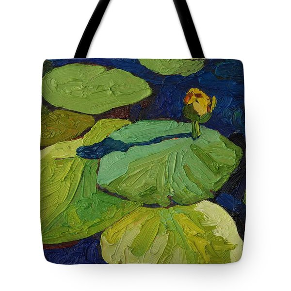 Yellow Waterlily Tote Bag by Phil Chadwick