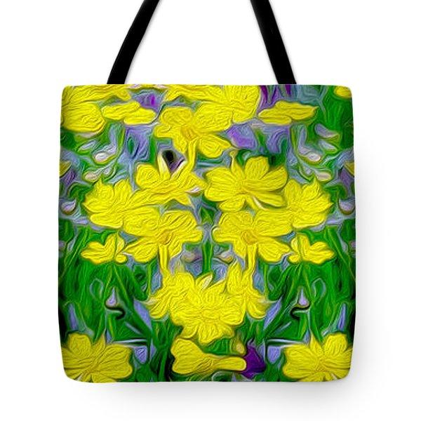 Yellow Wild Flowers Tote Bag by Jon Neidert