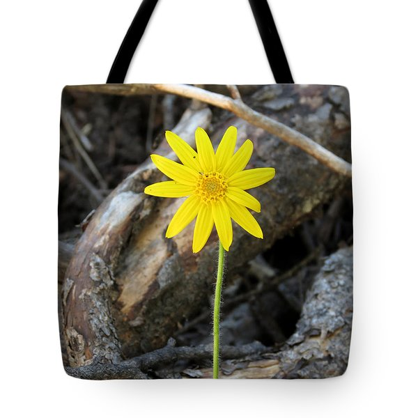 Yellow Wildflower Tote Bag by Laurel Powell