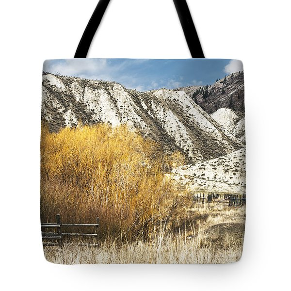 Yellow Willow Tote Bag by Sandi Mikuse