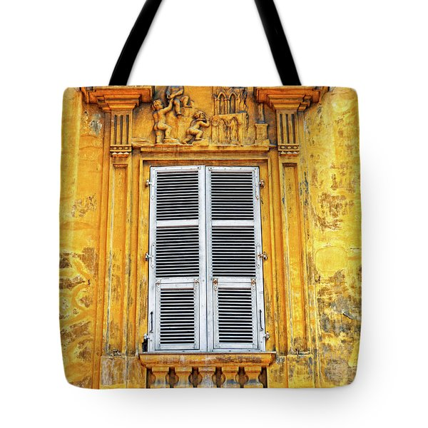 Tote Bag featuring the photograph Yellow Window Nice France by Dave Mills