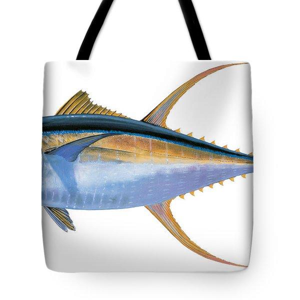 Yellowfin Tuna Tote Bag by Carey Chen