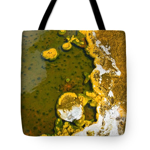 Yellowstone Abstract Tote Bag by Jamie Pham