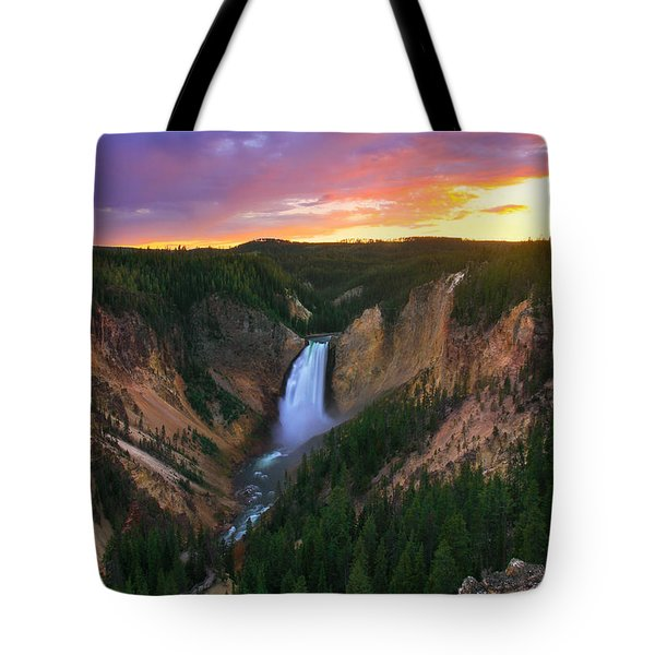 Tote Bag featuring the photograph Yellowstone Beauty by Kadek Susanto