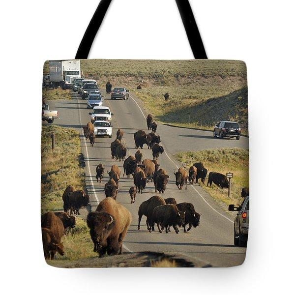 Yellowstone Bison Jam Tote Bag