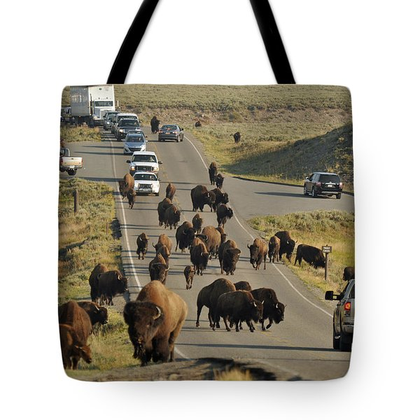 Yellowstone Bison Jam Tote Bag