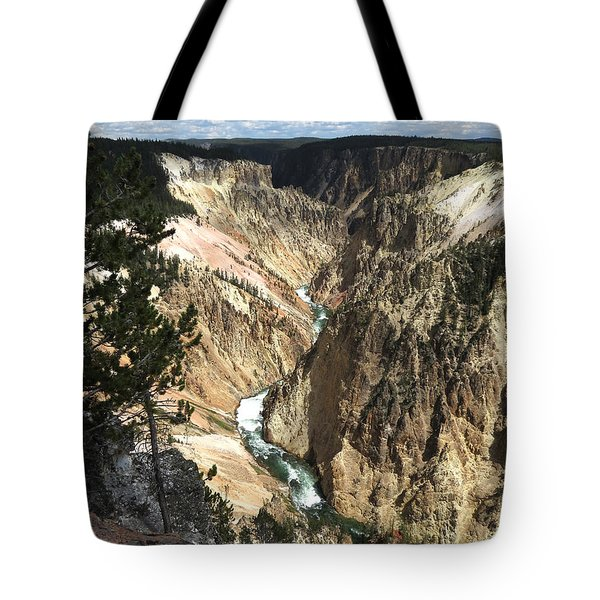 Tote Bag featuring the photograph Yellowstone Canyon by Laurel Powell