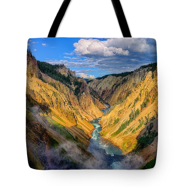 Yellowstone Canyon View Tote Bag
