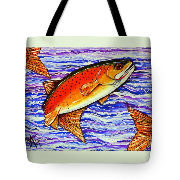 Yellowstone Cutthroat Tote Bag by Jackie Carpenter