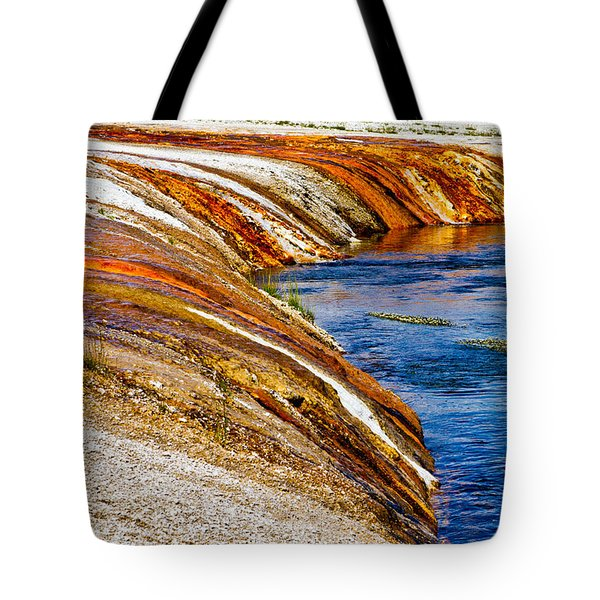 Yellowstone Earthtones Tote Bag by Bill Gallagher