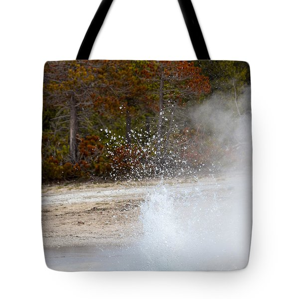 Yellowstone Geyser Tote Bag
