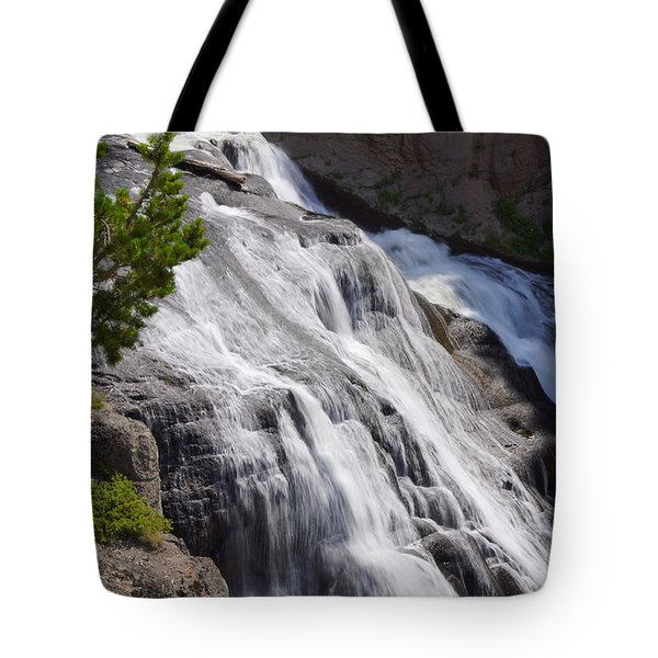 Yellowstone Gibbon Falls Tote Bag