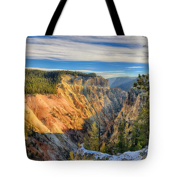 Yellowstone Grand Canyon East View Tote Bag